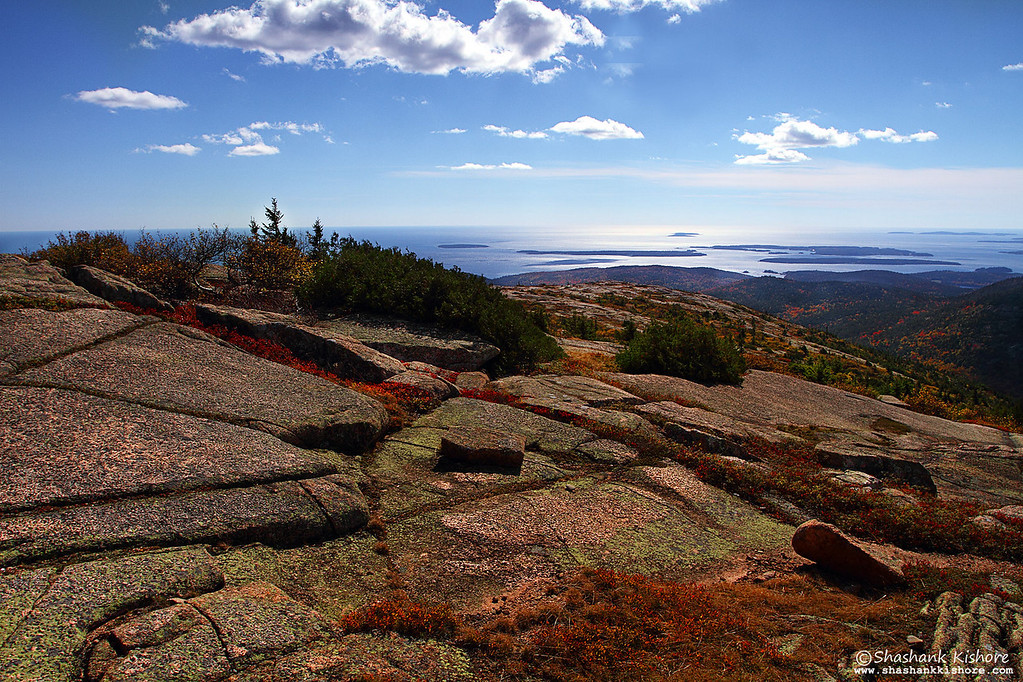 Location - Cadillac Mountain, Acadia National Park, ME, USA. (Shot in the second week of Oct 2010.) Canon 7D, 17-40 @17mm, f11, ISO-125, Circular Polarizer.