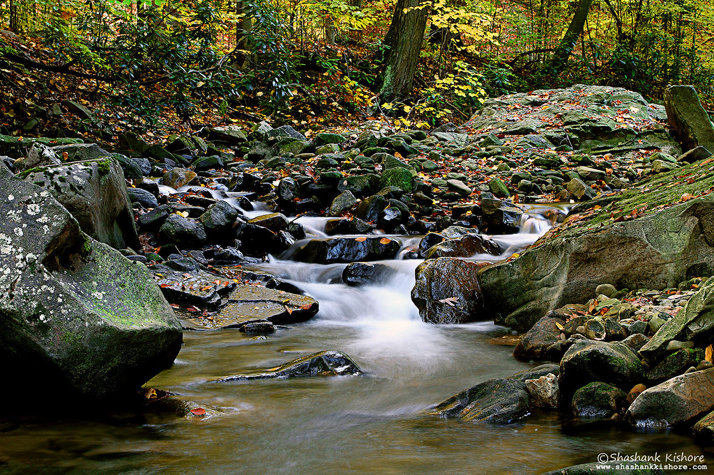 Location - Linn Run State Park, PA, USA (Third Week of  Oct 2010) Canon 7D, 17-40@40mm, f13, 2.5Sec, ISO-100, Tiffen 0.9 ND + Circular Polarizer.